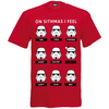Star Wars Men's Stormtrooper Emotions Christmas T-Shirt - Red: Image 1