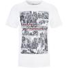 Transformers Men's Comic Strip T-Shirt - White: Image 1