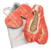 Holistic Silk Eye Mask Slipper Gift Set - Tibetan Orange (Various Sizes): Image 1