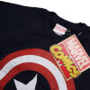 Marvel Boys' Captain America Distress Shield Sweatshirt - Navy: Image 2