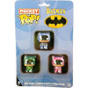 Funko Batman - Pink, Green & Blue Pocket Pop! Pop! Vinyl: Image 1