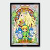 Nintendo Legend of Zelda Link and Zelda Chromalux High Gloss Metal Poster: Image 1