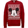 Disney Mickey Mouse Christmas Mickey Face Red Christmas Sweatshirt: Image 1