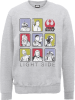 Star Wars The Last Jedi Light Side Grey Sweatshirt: Image 1