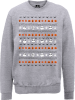 The Nightmare Before Christmas Jack Pumpkin Faces Grey Sweatshirt: Image 1