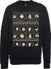 The Nightmare Before Christmas Jack Sally Zero Faces Black Sweatshirt: Image 1