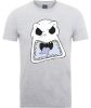 The Nightmare Before Christmas Jack Skellington Angry Face Grey T-Shirt: Image 1