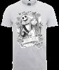 The Nightmare Before Christmas Jack Skellington And Sally Grey T-Shirt: Image 1
