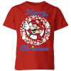 Nintendo Super Mario Merry Christmas Kids' T-Shirt - Red: Image 1