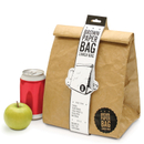 Braune Packpapier Tasche - Isolierte Lunchpaket