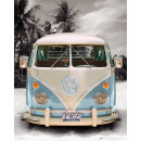 VW Californian Camper Beach - Mini Poster - 40 x 50cm