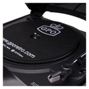 GPO Retro Memphis Turntable 4-in-1 Music System with Built in CD and FM Radio - Black