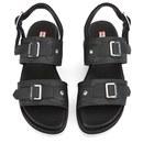 e676ac517c4 Hunter Women s Original Double Buckle Mid Flatform Sandals - Black ...