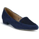 87780b942 Ravel Women's Anaconda Suede Pointed Flat Shoes - Navy | FREE UK ...