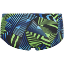 Zoggs Men's Optic Sport Swim Briefs - Black/Green/Blue