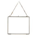 Nkuku Kiko Antique Brass Glass Frame - Landscape 8 x 10""