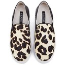 Senso Women's Ally IV Leopard Print Pony Slip On Trainers - Chalk