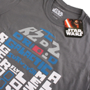 Star Wars Men's R2-D2 Text Body T-Shirt - Charcoal