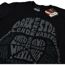 Star Wars Men's Darth Vader Text Head T-Shirt - Black