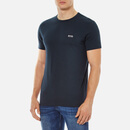 BOSS Men's Basic Crew Shoulder Logo T-Shirt - Navy