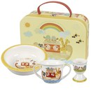 Little Rhymes Noah's Ark 3 Piece Mug, Porringer and Egg Cup Set in a Gift Box