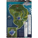 Jurassic World Aged Map - 24 x 36 Inches Maxi Poster