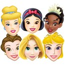 Disney Princess Snow White, Cinderella, Belle, Tiana, Rapunzel, Aurora Masks (6 Pack)