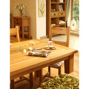 Vancouver Oak VXD014 Square Fixed Top Dining Table