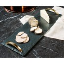 Just Slate Serving Tray with Gold Handles