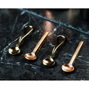 Just Slate Gold and Copper Spoons - Set of 4