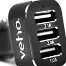 Veho VAA-010 Triple USB 5V 5.1a in Car Charger