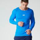 Myprotein 男士运动表现无缝长袖上衣 - 蓝色