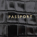 Aspinal of London Women's Passport Cover - Black Croc