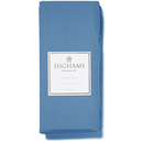 Highams 100% Egyptian Cotton Plain Dyed Fitted Sheet - Steel Blue [China Sizing Only]