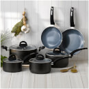 Tower T80300 2 Piece Ceramic Coated Pan Set - Graphite
