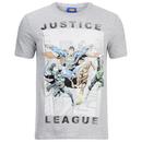 DC Comics Men's Justice League Flying T-Shirt - Grey Marl