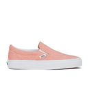 Vans Women's Classic Slip-on Chambray Trainers - Coral/True White