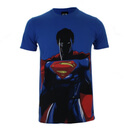 DC Comics Men's Batman v Superman Superman T-Shirt - Royal
