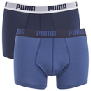 Puma Men's 2 Pack Basic Trunks - Navy/Royal