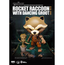 Beast Kingdom Marvel Guardians of the Galaxy Egg Attack Rocket Raccoon with Dancing Groot 4 Inch Figure