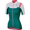 Sportful BodyFit Women's Short Sleeve Jersey - Green/White/Pink