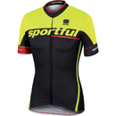 Sportful SC Team Short Sleeve Jersey - Black/Yellow