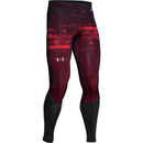 Under Armour Men's Launch Printed Compression Leggings - Red
