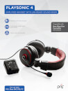Prif PlaySonic 4 Amplified Headset with Mixer (PS4/Xbox360/PS3/PC)