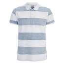 Polo Jack & Jones pour Homme Originals Micks -Mykonos Bleu/Blanc