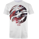 Marvel Men's Captain America Civil War Smoke Shield T-Shirt - White