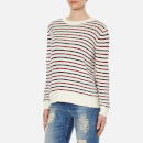 Samsoe & Samsoe Women's Mallie O Neck Striped Jumper - Breton Beet