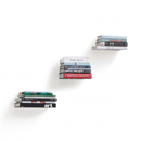 Umbra Conceal Wall Floating Book Shelf - Silver (3 Pack)