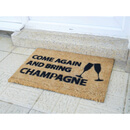 Come Again & Bring Champagne Doormat