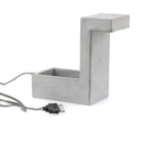 Concrete Desk Blok Lamp